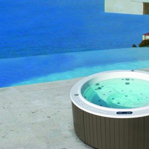 The Spa Sundown is the circular model in the Aquavia collection